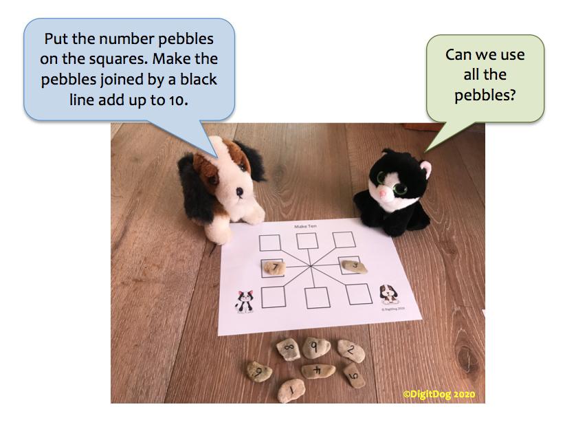 making ten pebbles