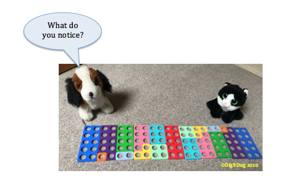 Numicon pairs to 10 pattern